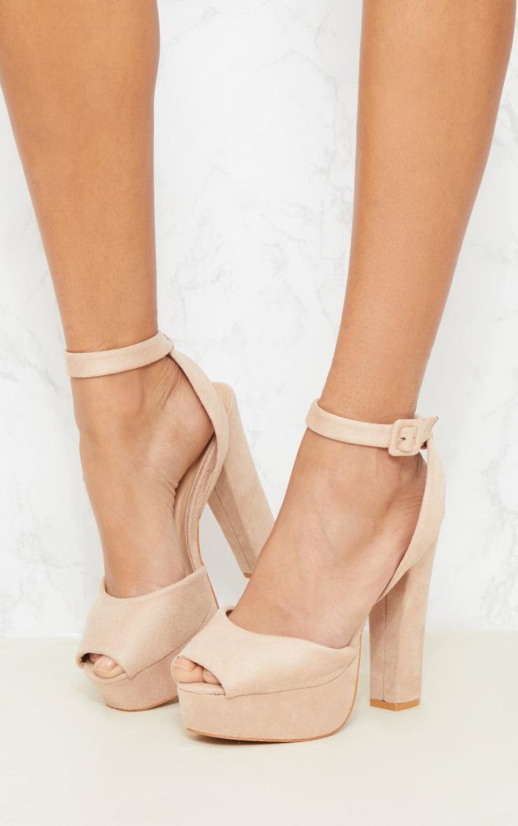 Nude Platform Sandal 2
