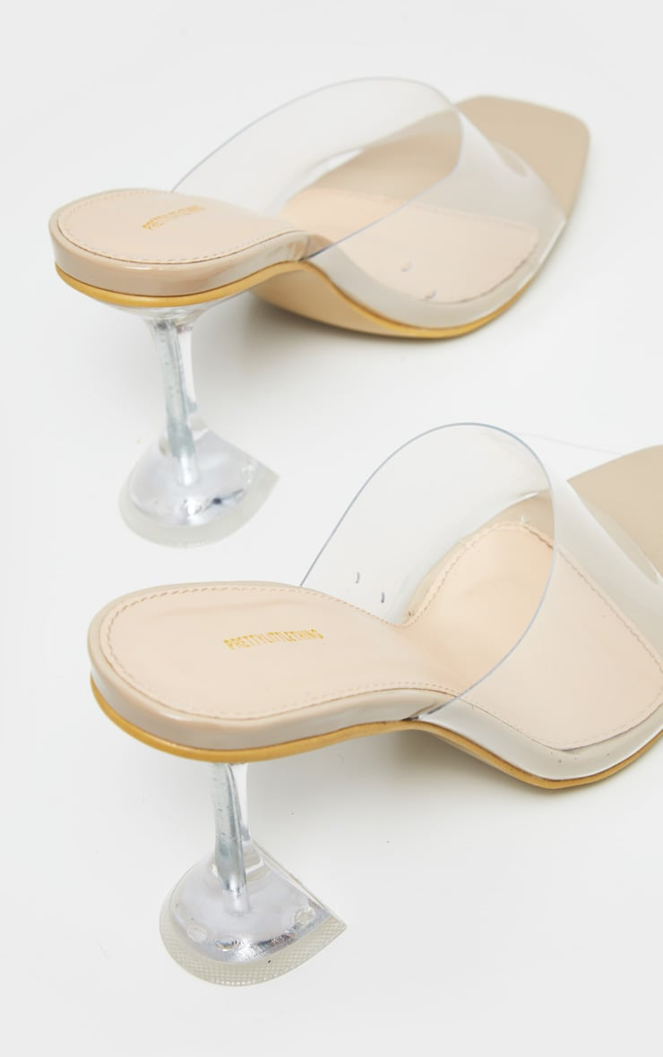 Nude Clear Cake Stand Heel Mule 3
