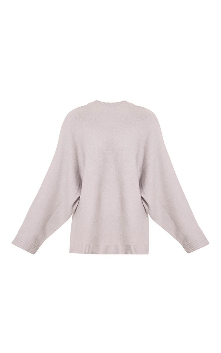 Raysa Silver Oversized Knitted Jumper 3