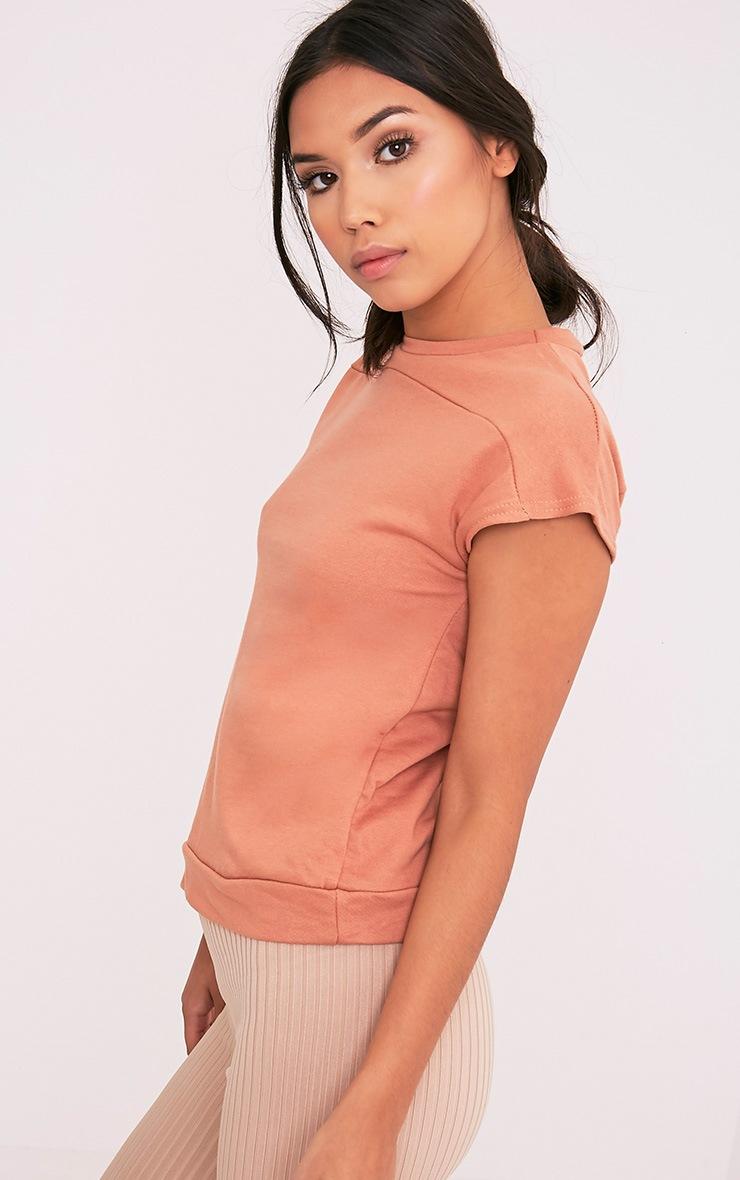 Adabel Deep Peach Boxy Highneck Sweater 4