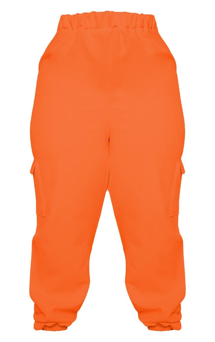 Plus Neon Orange Utility Jogger 4