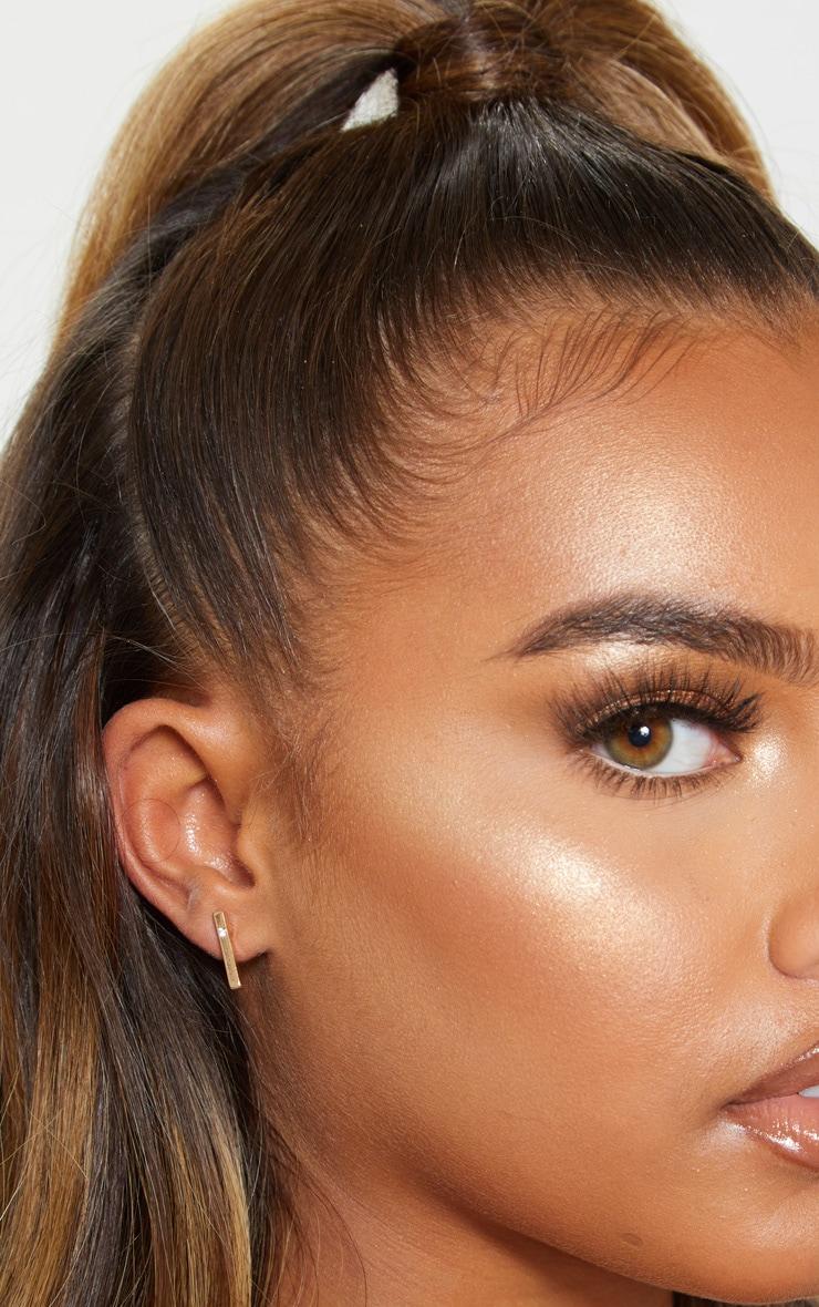 Gold Stud Earrings Multi Pack 3