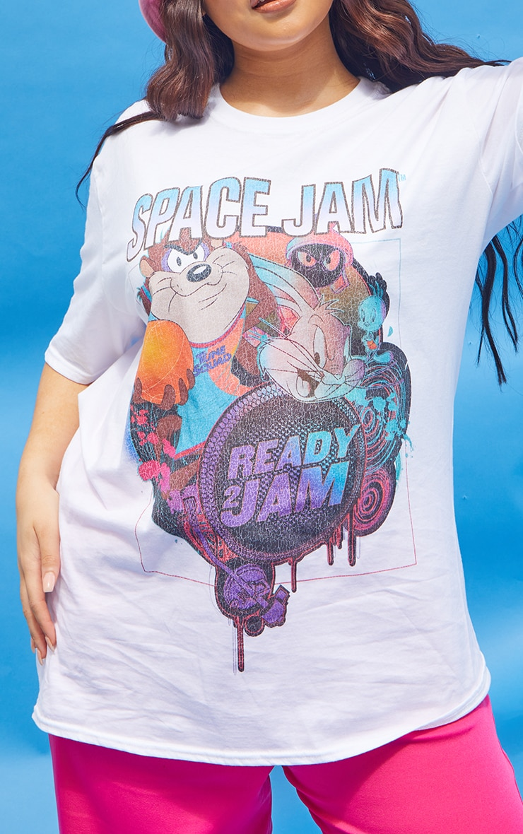 Plus Cream Space Jam Washed T- Shirt 4