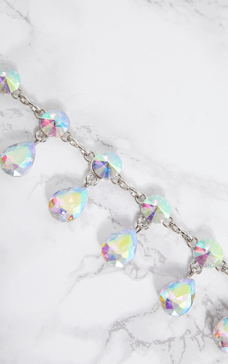 Silver Iridescent Jewel Belt 5
