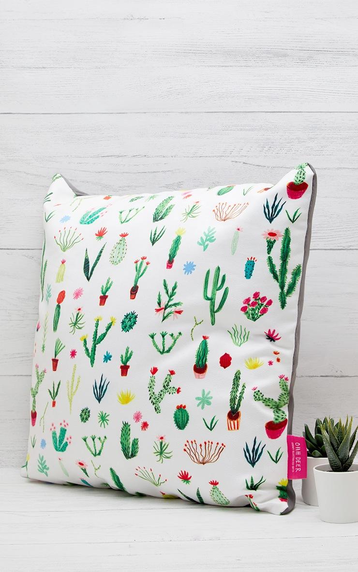White Cacti Cushion 2
