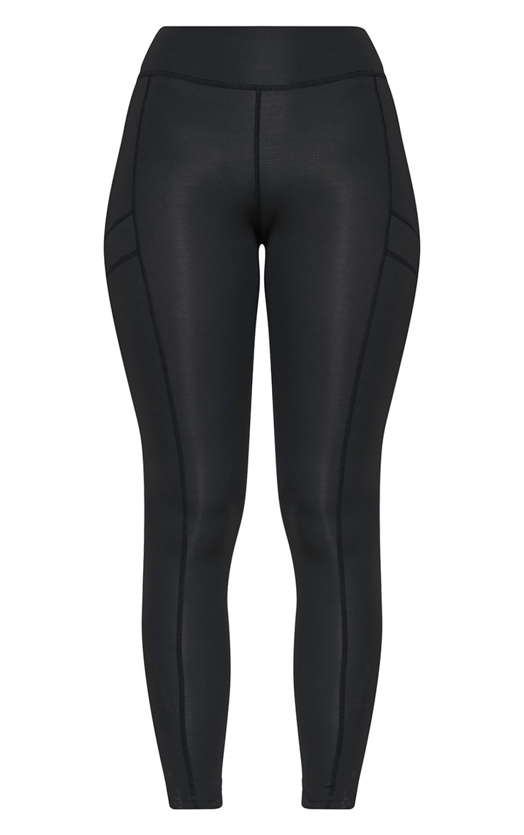 Alexis Black Panelled Gym Leggings 3