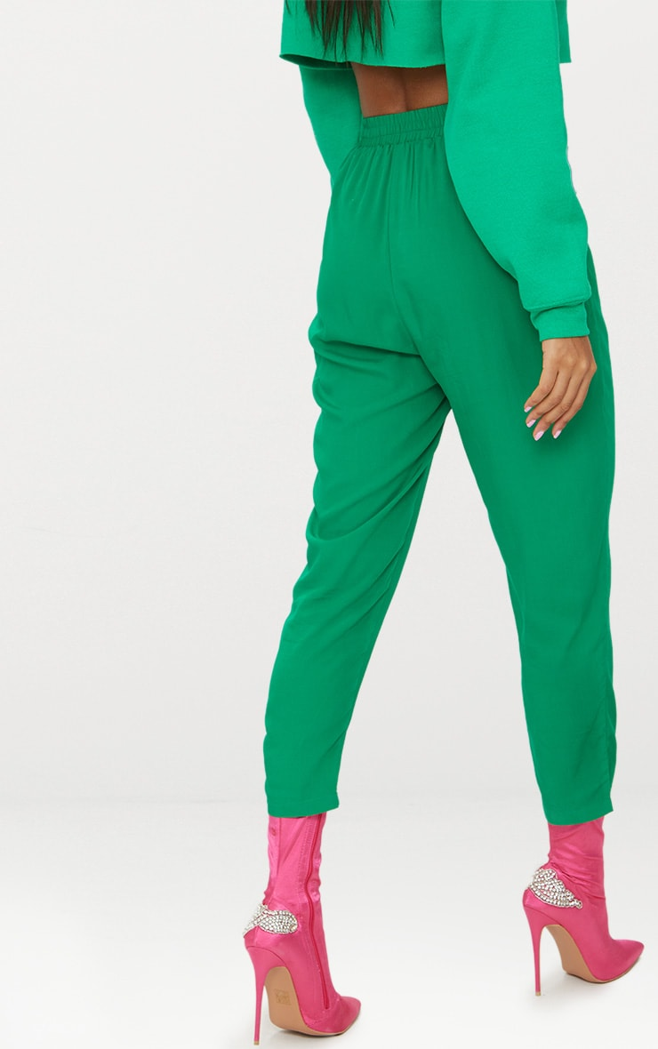 Bright Green Casual Trousers 4