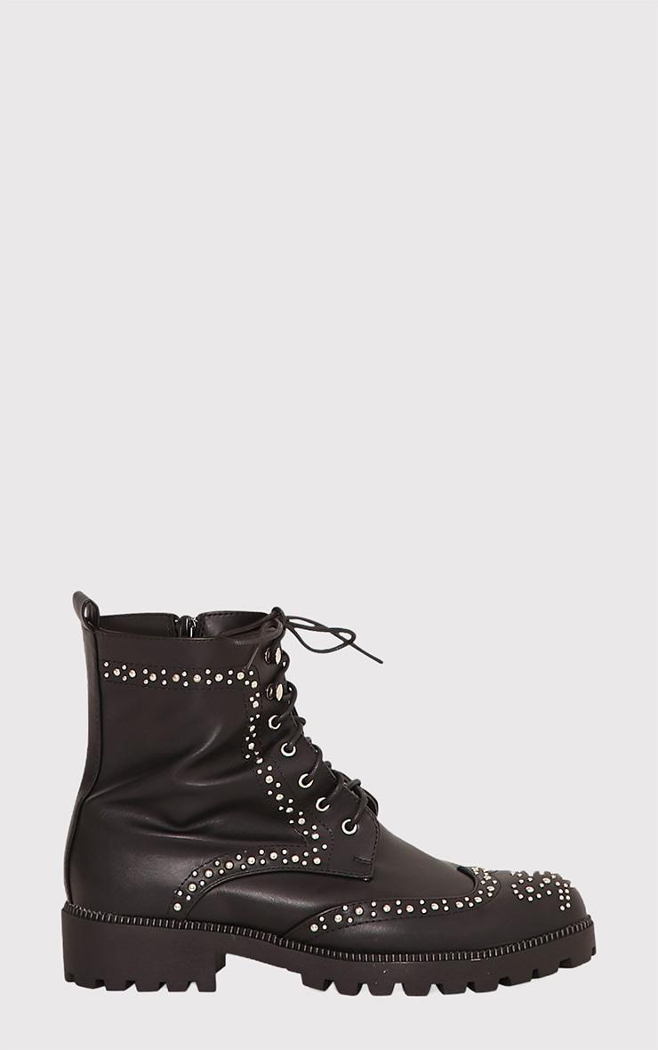 Maura Black Studded Biker Boots 2