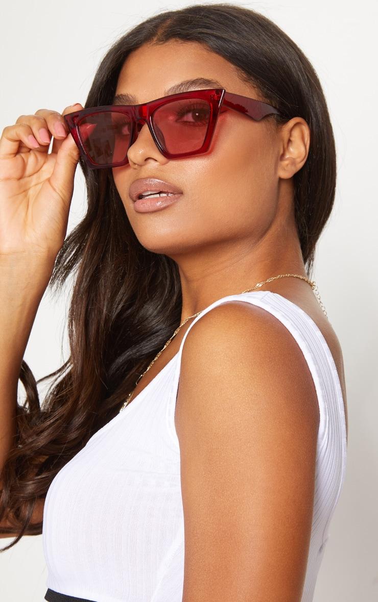 Red Angular Sunglasses 2