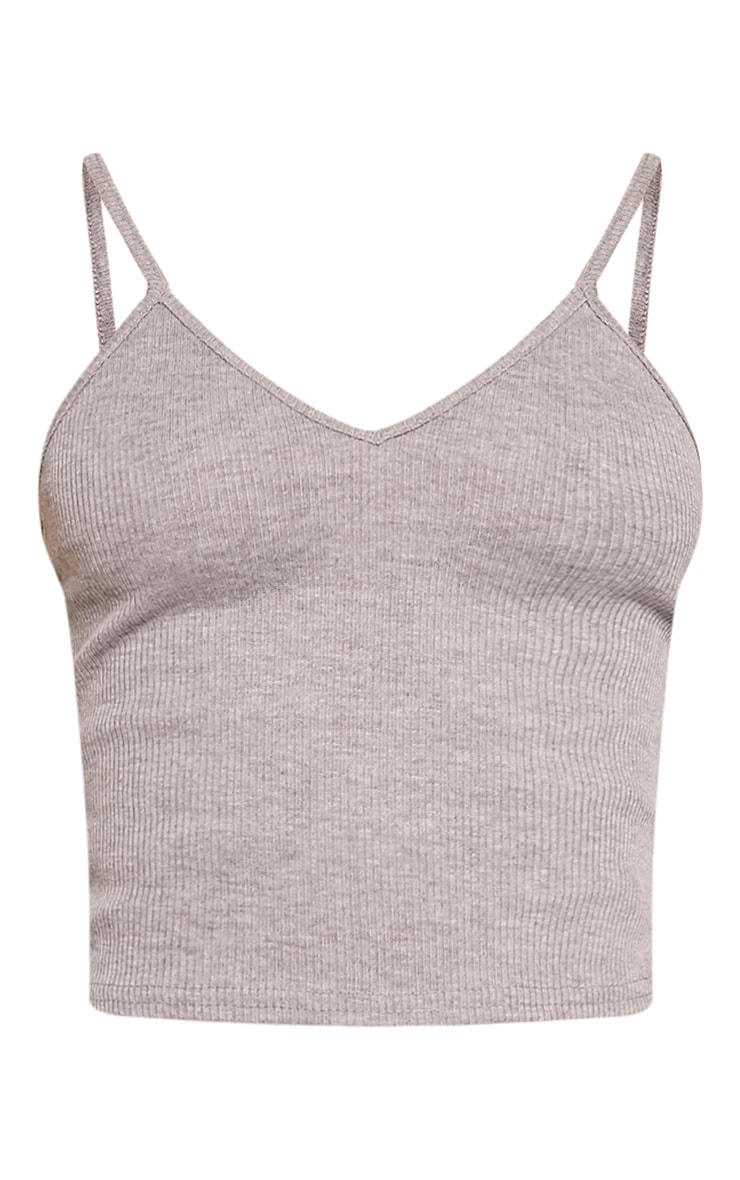 Basic Grey Strap V Neck Vest 3