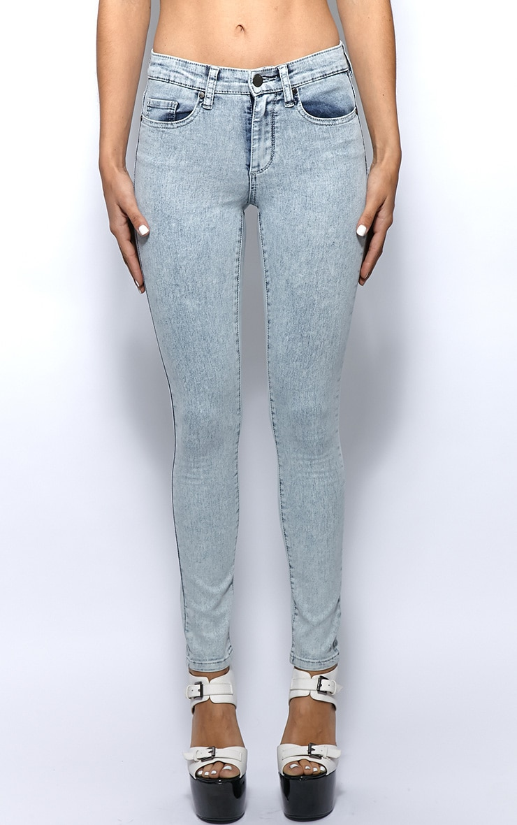 Kimmy Light Blue Ankle Grazer Skinny Jeans -6 5
