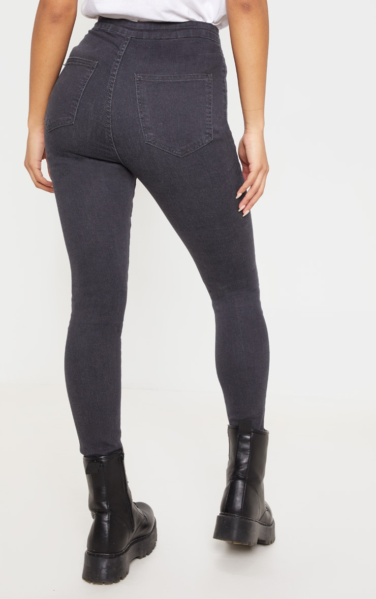 Dark Grey Disco Fit Skinny Jean  4