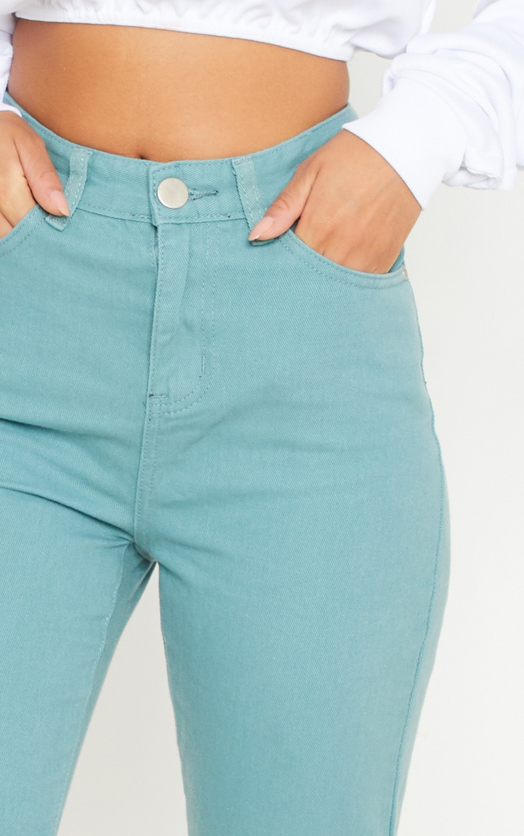 Green 5 Pocket Skinny Jean  5