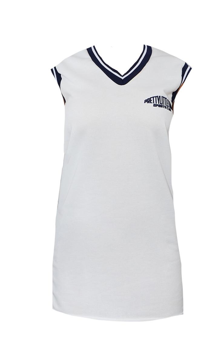 PRETTYLITTLETHING White Sleeveless Sweater Vest Jumper Dress 5