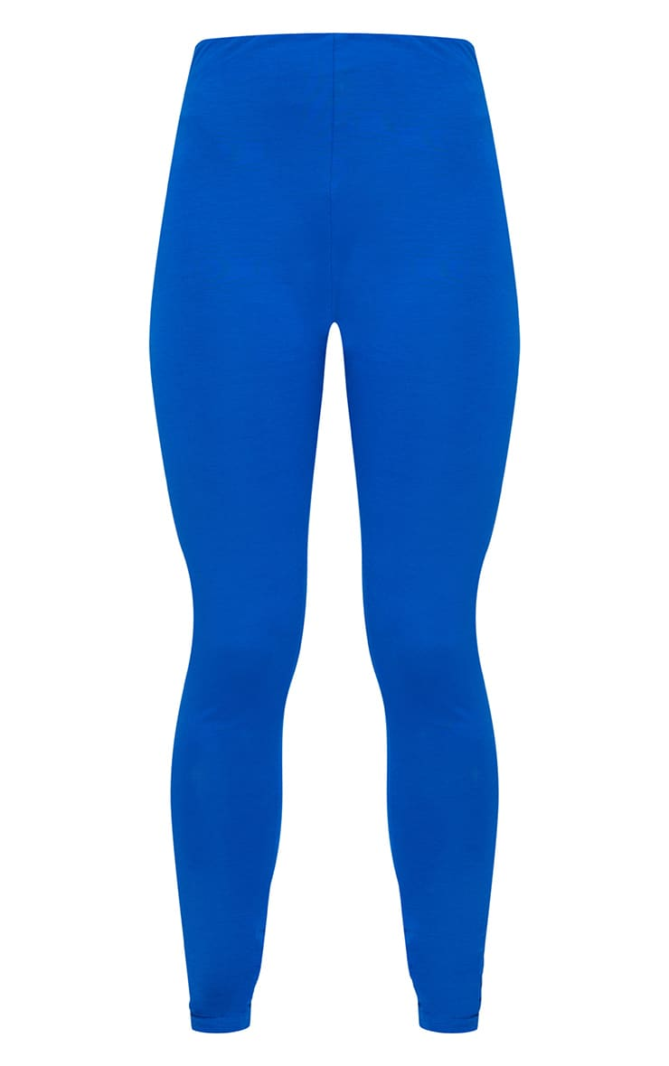 Cobalt Checkerboard Trim Leggings  3