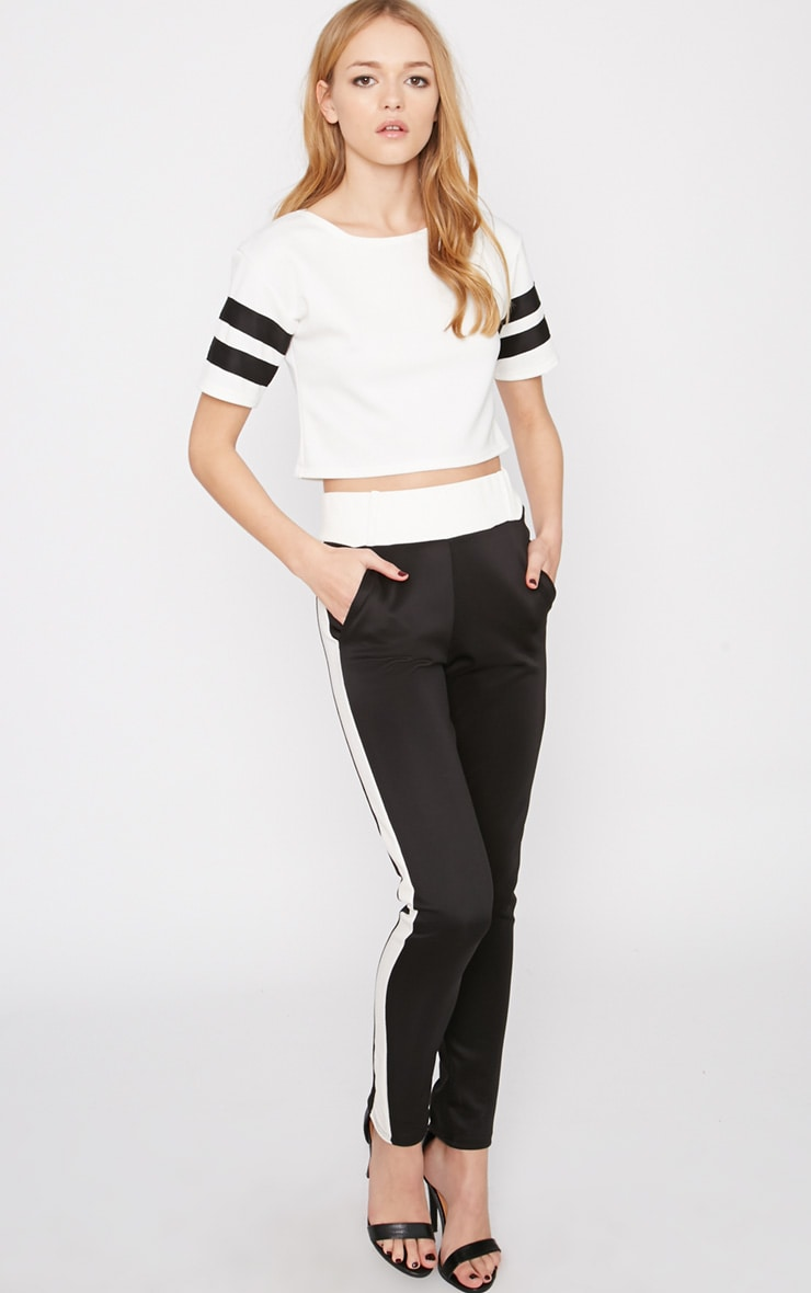 Shebah Monochrome Crop Top  3