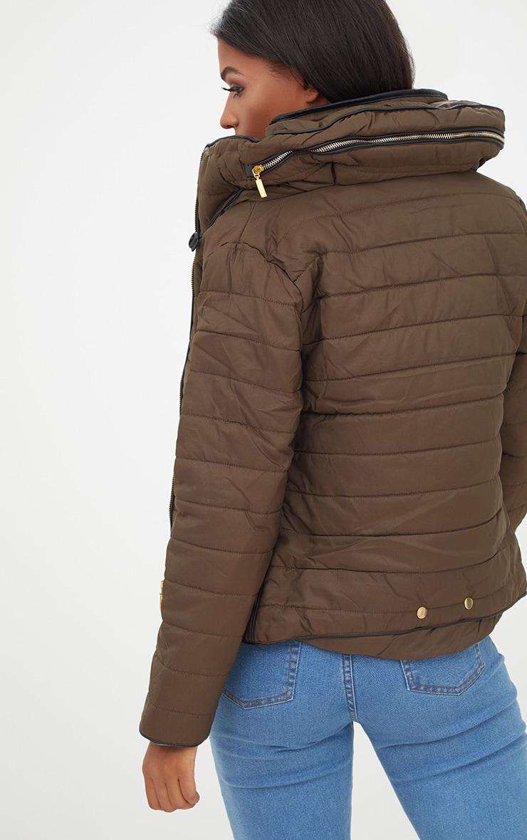 Mara Khaki Puffer Jacket 2
