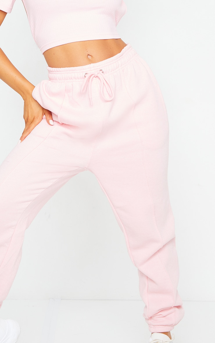 Baby Pink Seam Front Detail Joggers 4