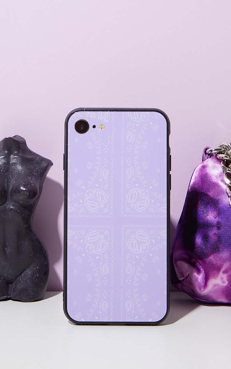 Lilac Scarf Print Iphone 8 Phone Case 1