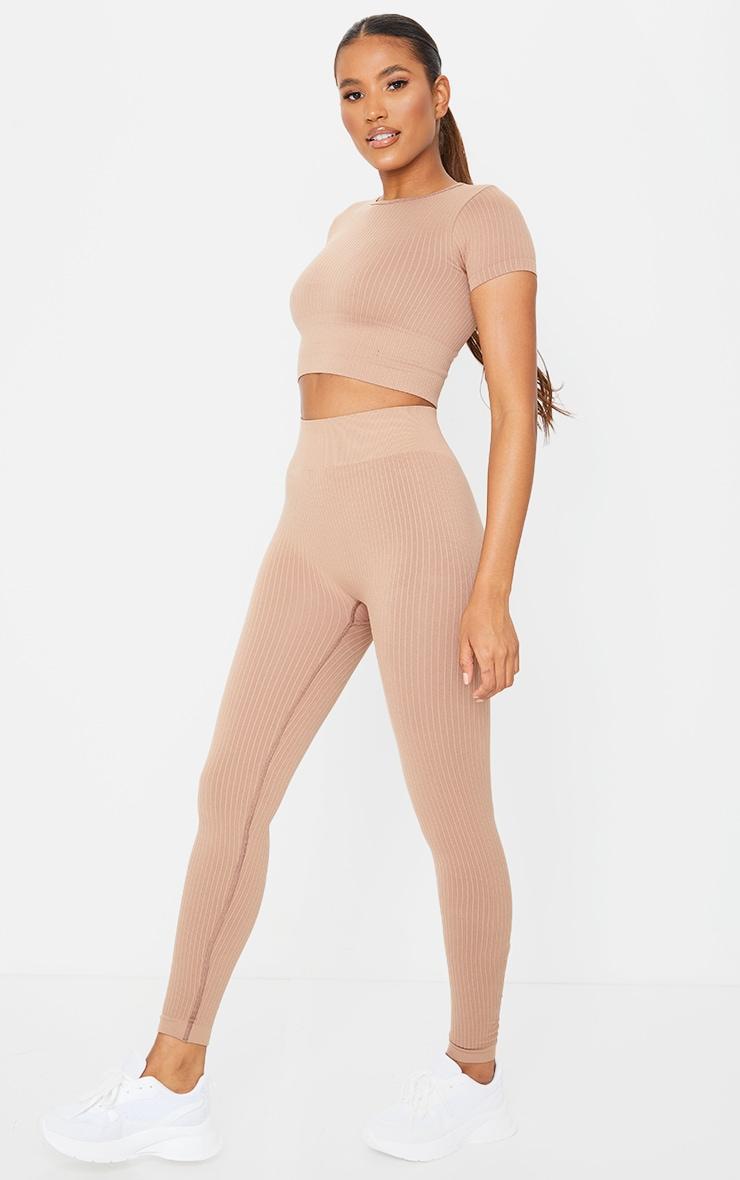 Nude Premium Ribbed Seamless Legging 1