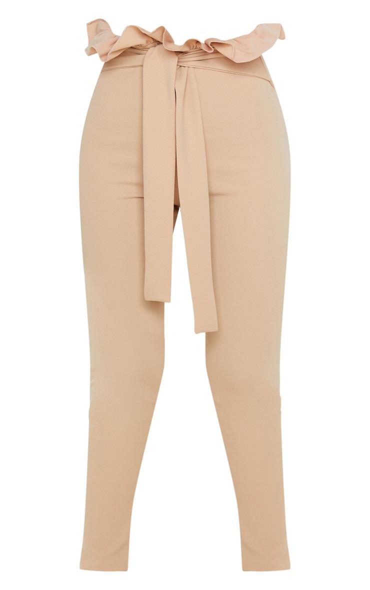Taupe Paperbag Skinny Pants  3