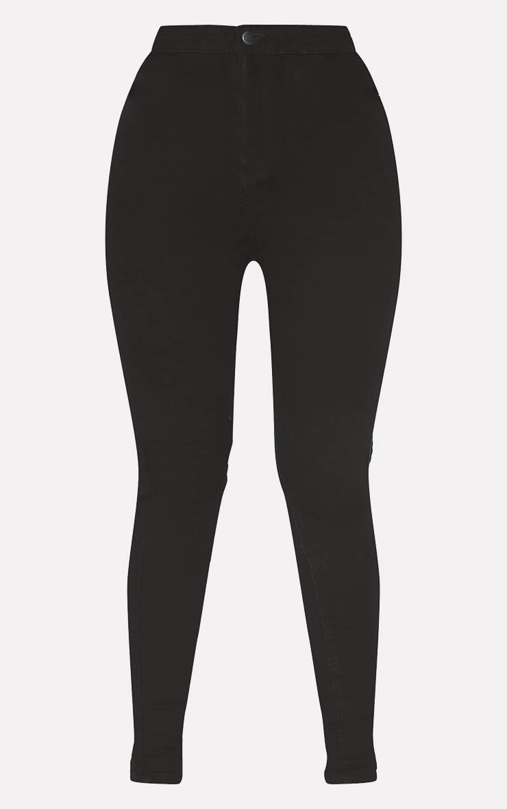 PRETTYLITTLETHING Black Disco Skinny Jean 1