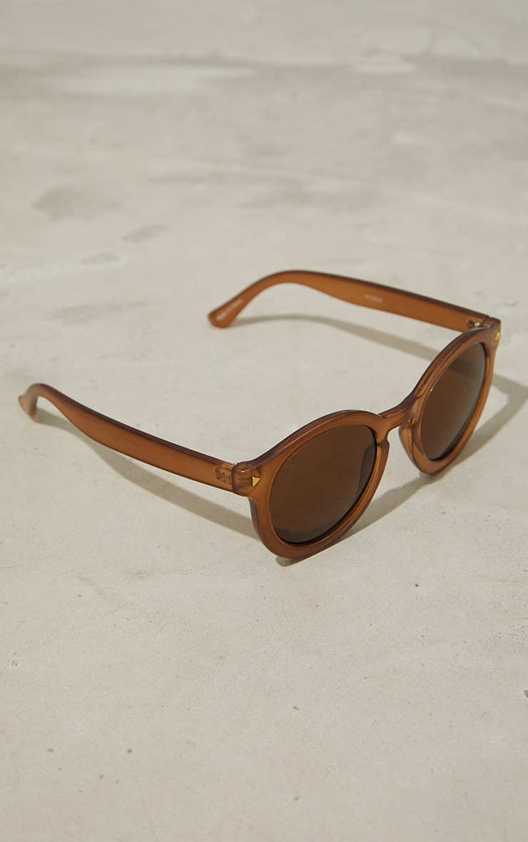 Jeepers Peepers Chocolate Round Sunglasses 2