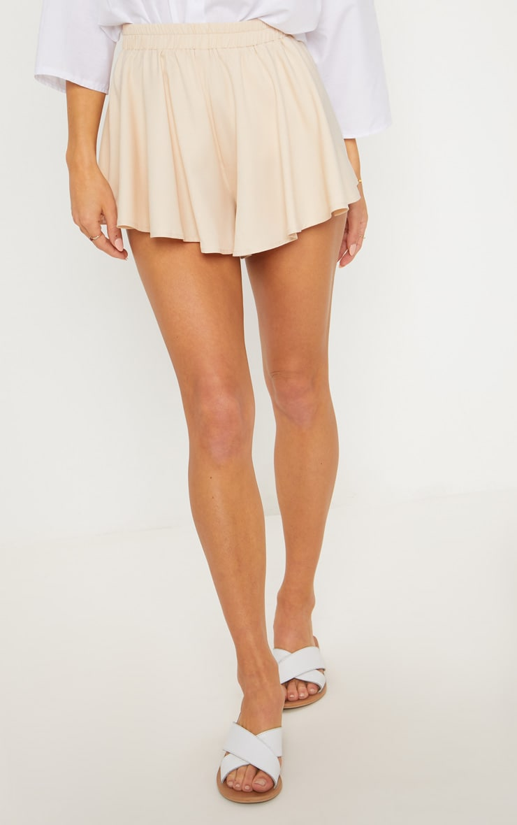 Cream Floaty Shorts 2