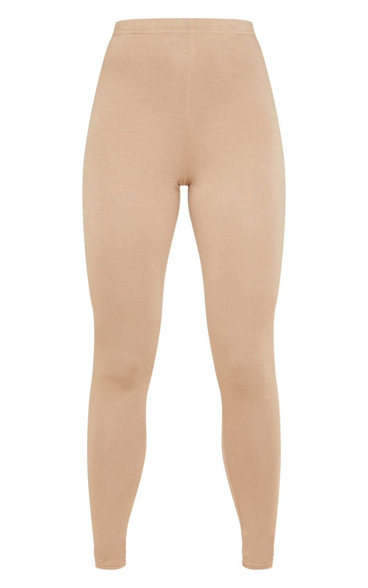 Camel Jersey High Waisted Leggings 3