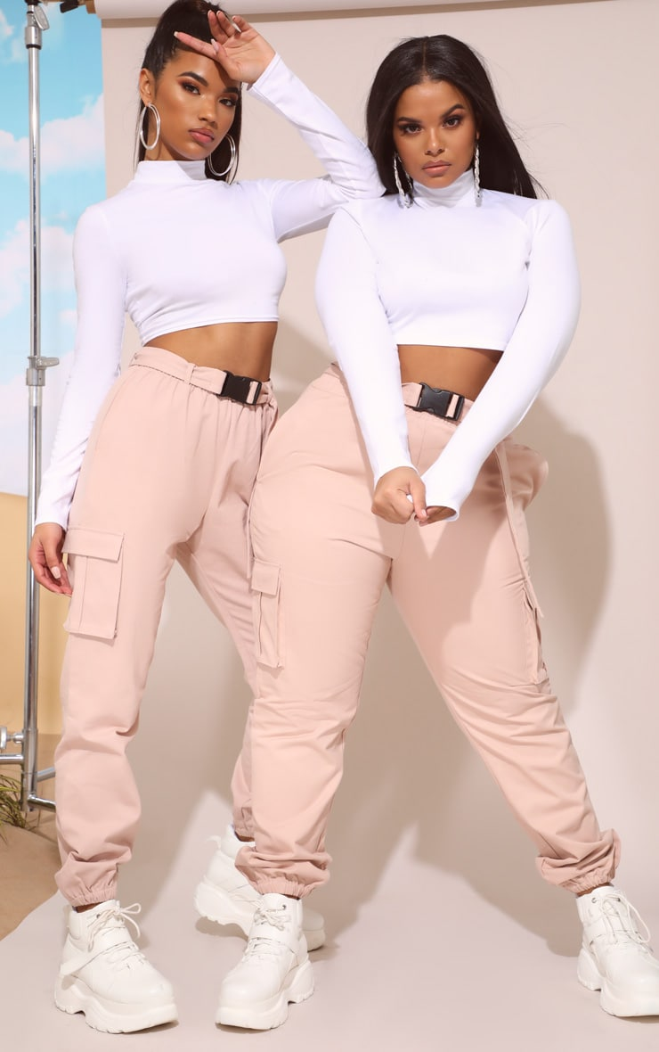 Nude Utility Buckle Belt Track Pants 7