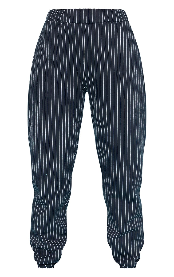 RECYCLED Black Pinstripe Jogger 3
