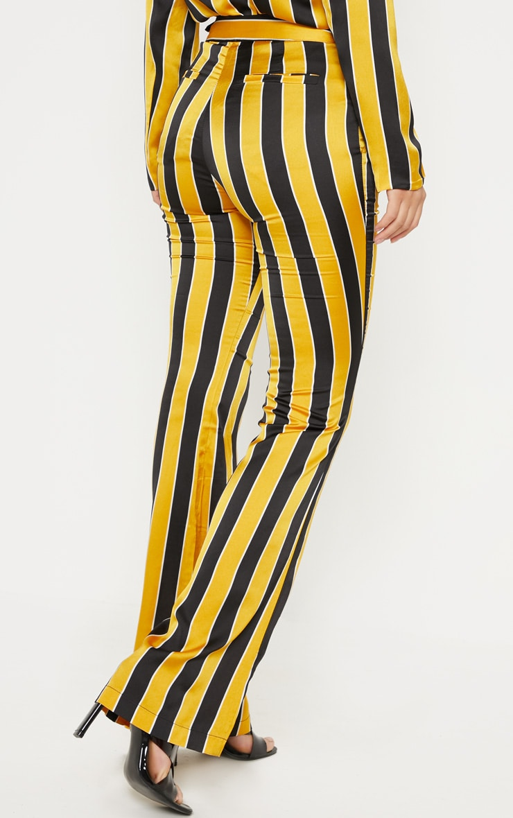 Yellow Stripe Straight Leg Trouser  2
