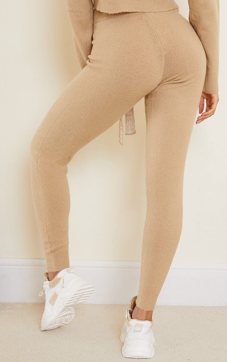 PRETTYLITTLETHING Stone Soft Knitted Joggers 3
