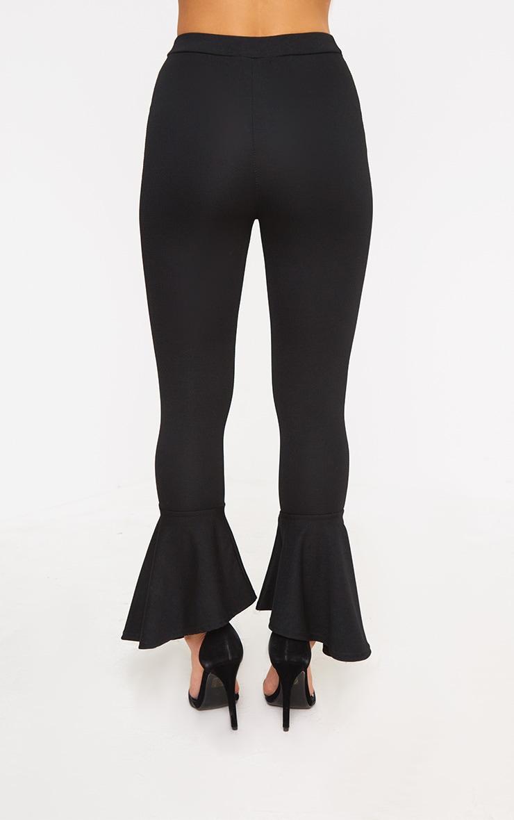 Petite Black Flare Hem Trousers 2