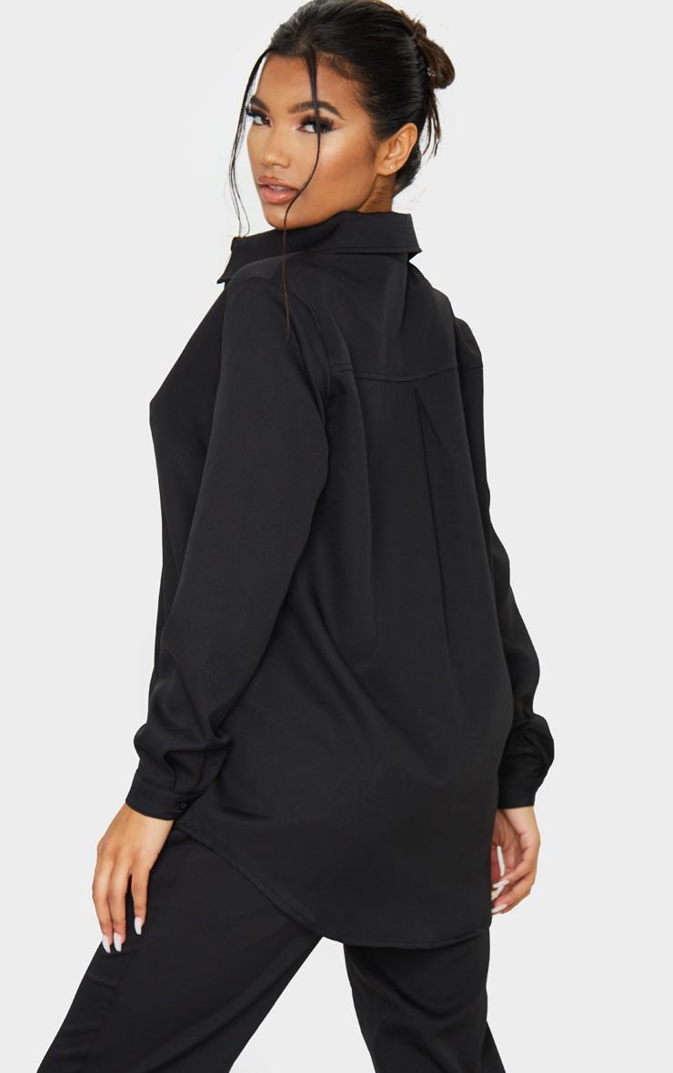 Black Oversized Long Sleeve Shirt 2