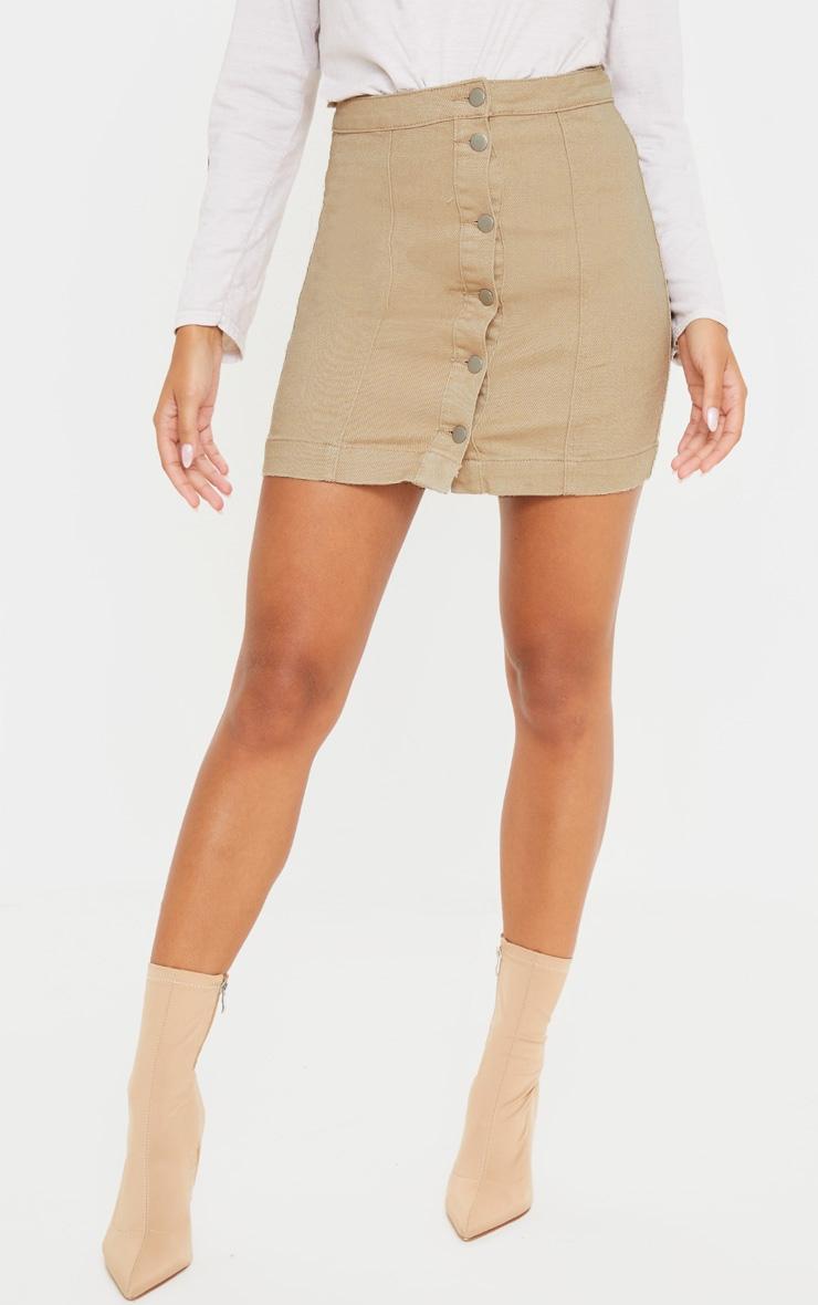 Dark Stone Denim Cammie Mini Skirt 2