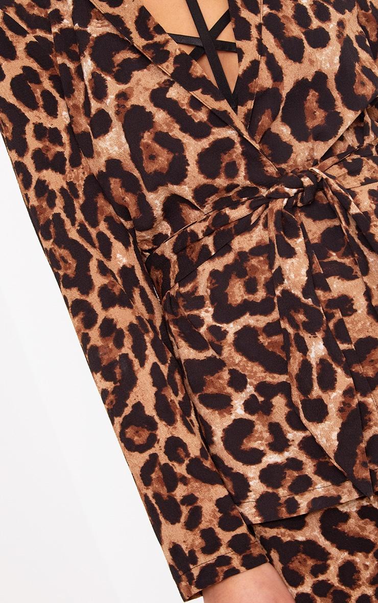 Leopard Belted Blazer 5