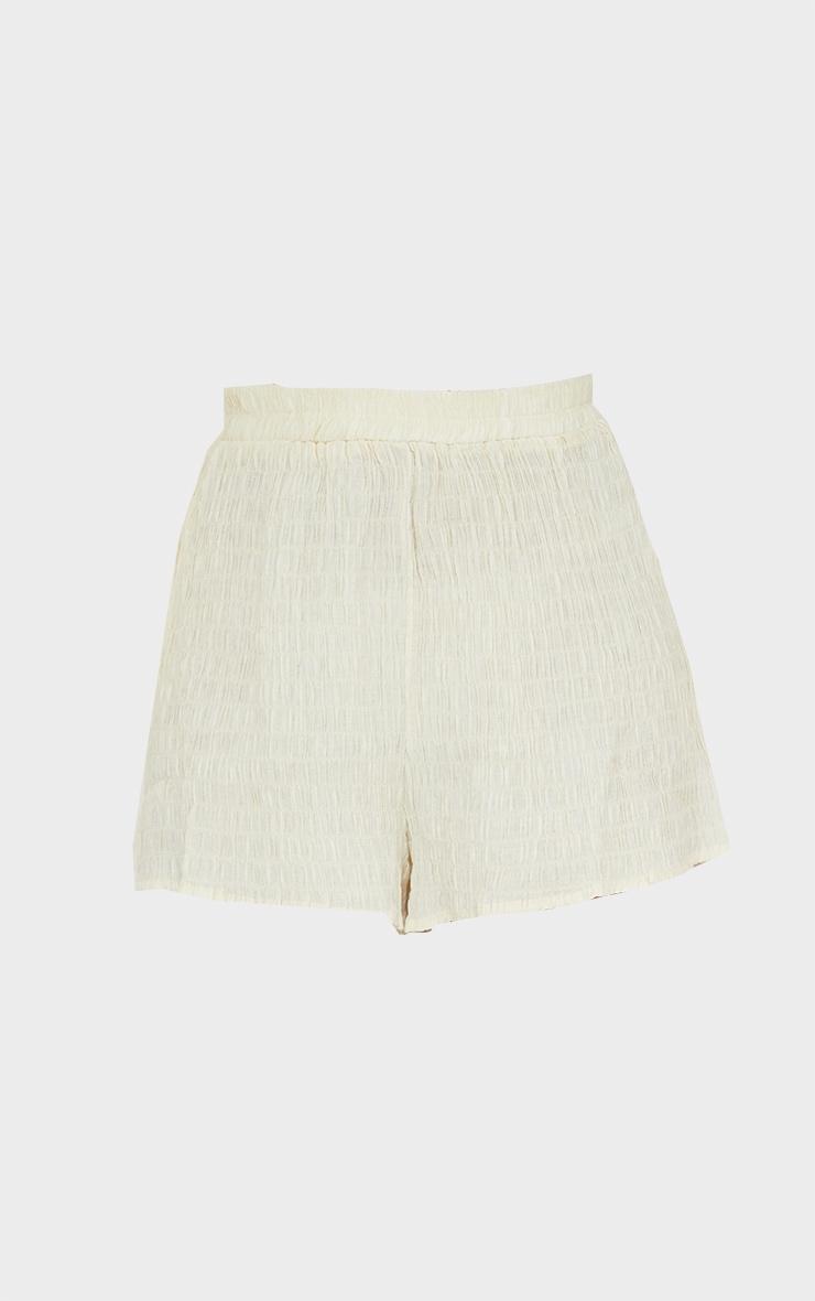 Stone Shirred Crinkle Beach Shorts 6