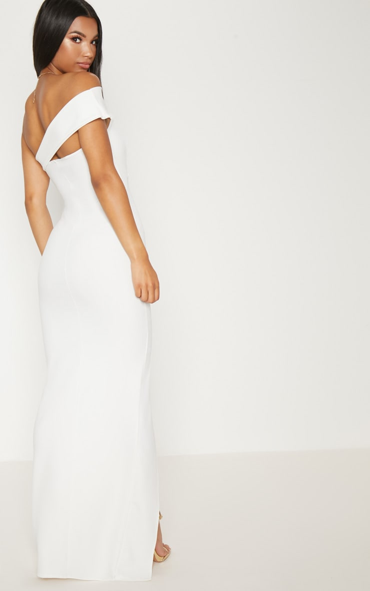 White Cross Strap Detail Maxi Dress 2