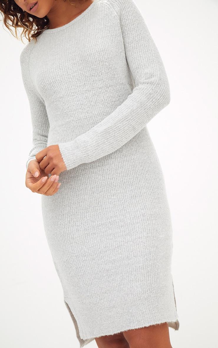Grey Rib Jumper Dress 5