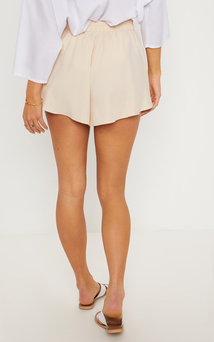 Cream Floaty Shorts 4