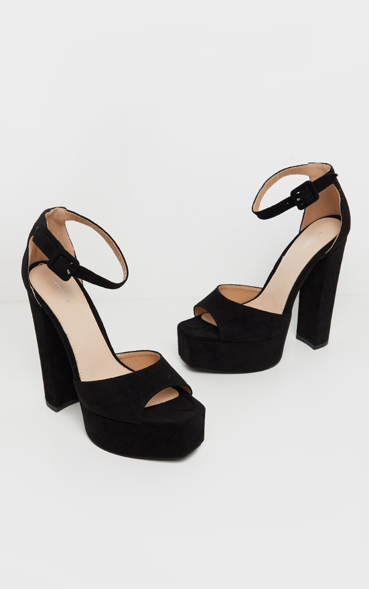 Black Platform High Sandal 3