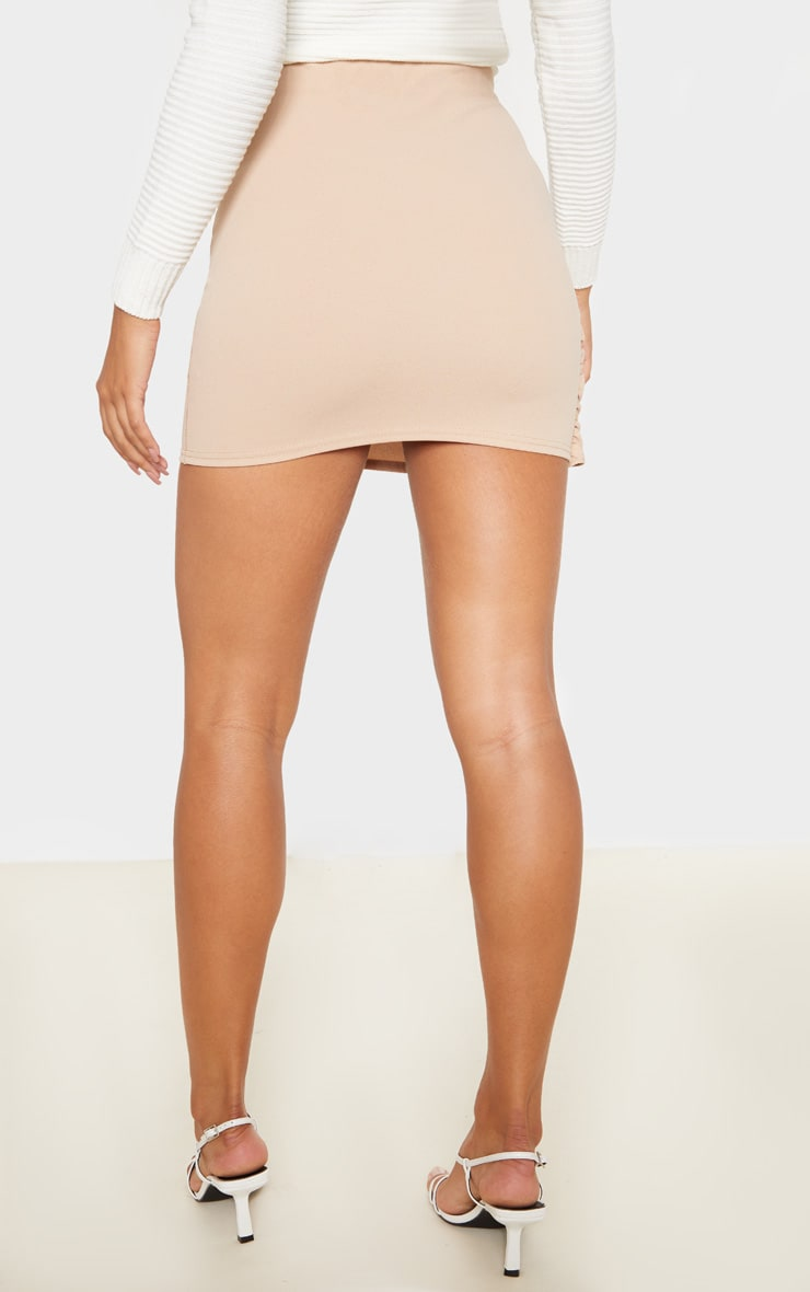 Stone Wrap Over Tie Detail Mini Skirt  4