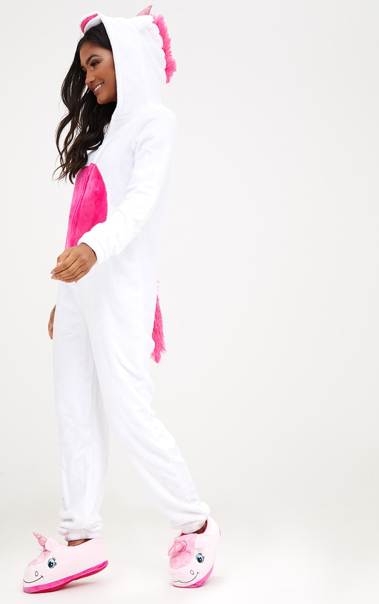 White Unicorn Onesie 1