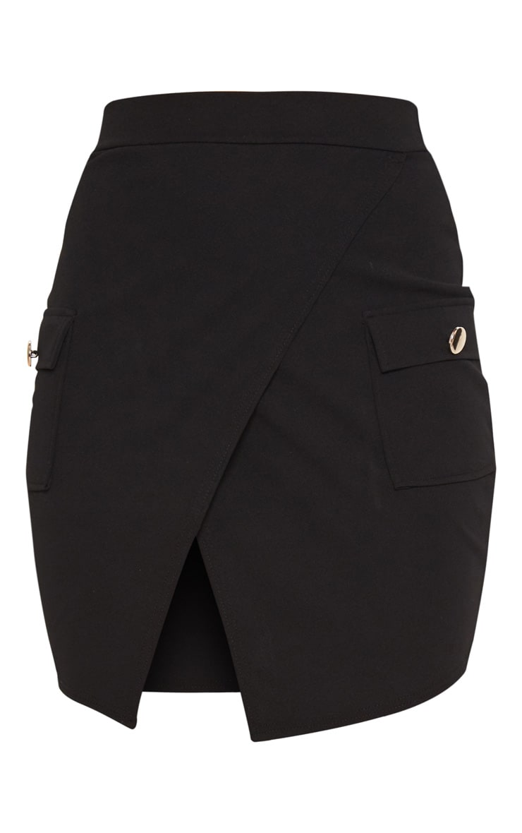 Black Military Pocket Mini Skirt  3