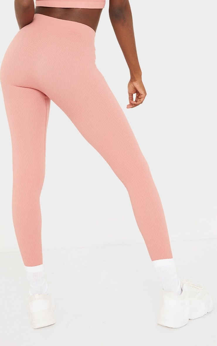 Tall Clay Structured Contour Ribbed Leggings 3