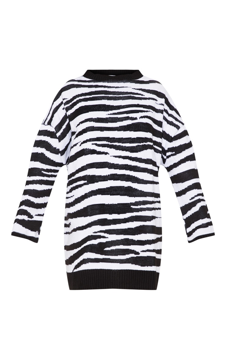 Zebra Print Jumper Dress  3
