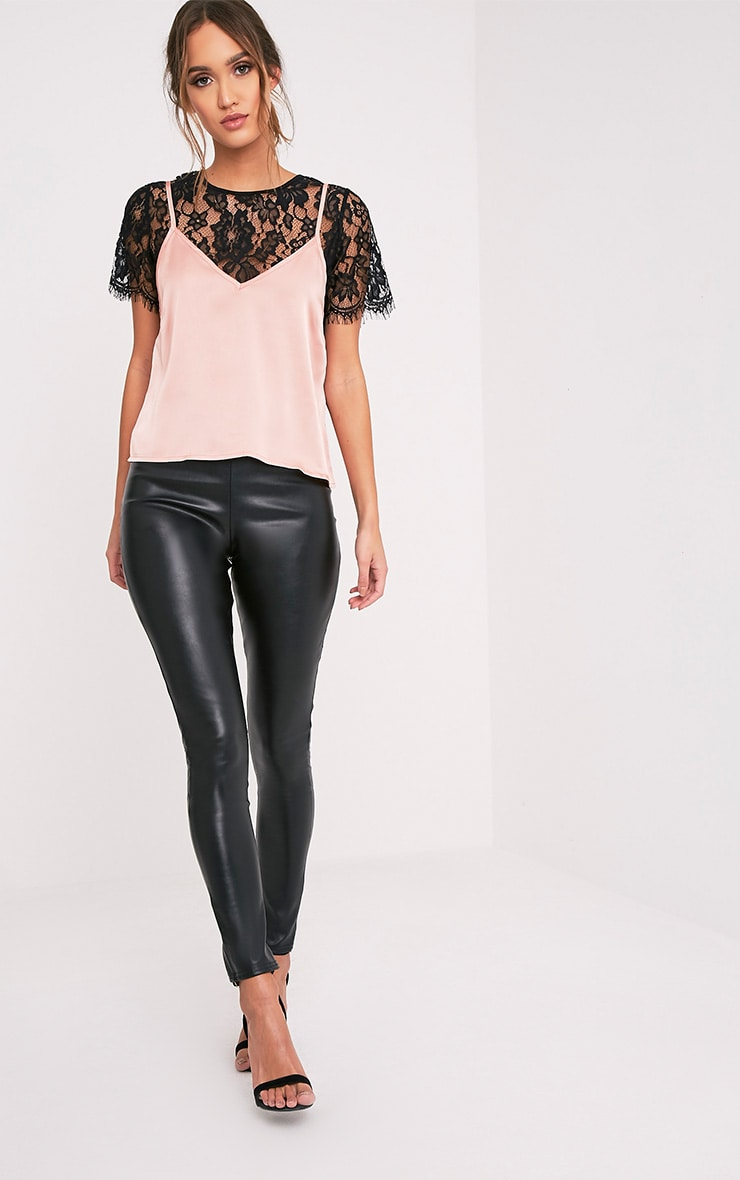 Syrah Rose Gold Satin Cami Top 5