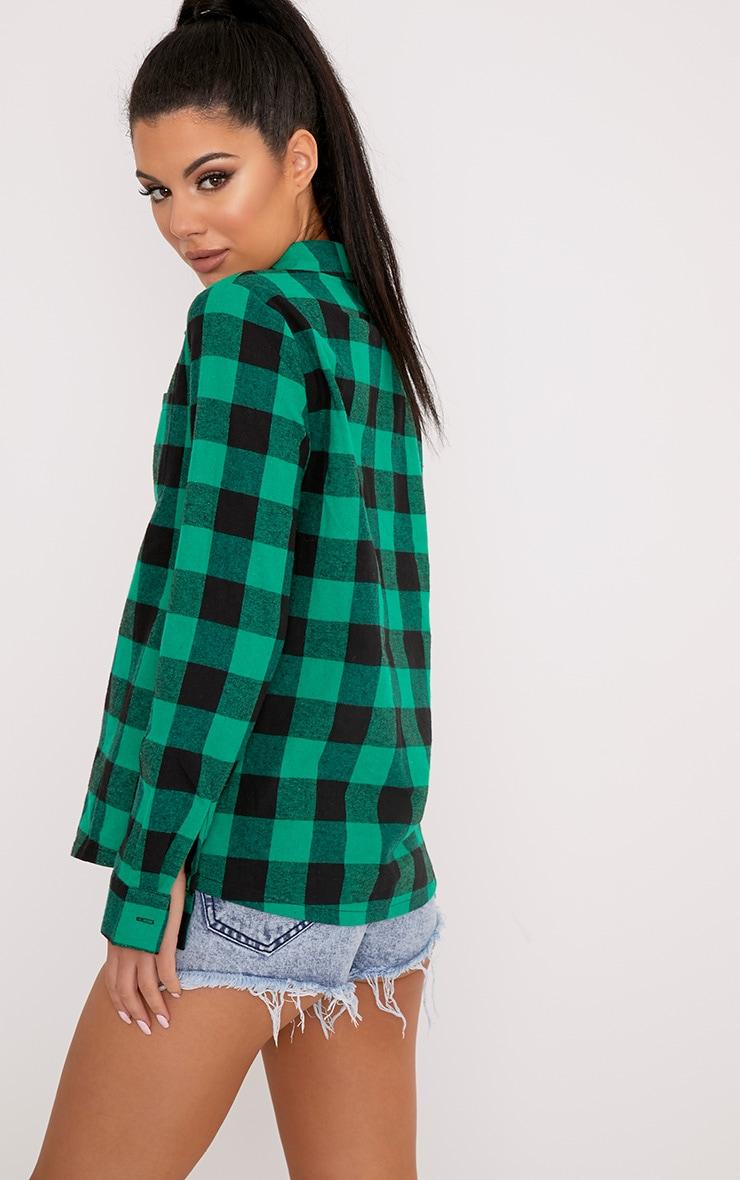 Layla Green Checked Shirt 2