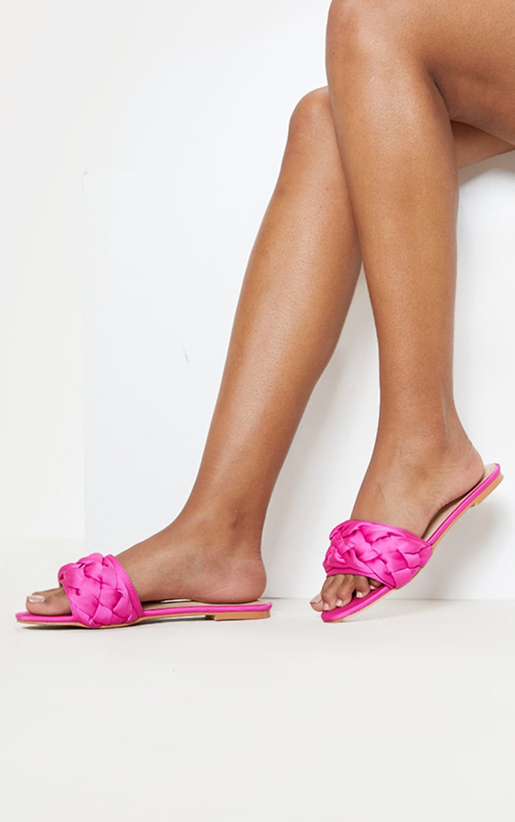Fuchsia Plaited Mule Sandal 1